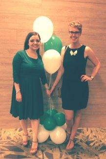 Marcela und ich nach der Abschlussfeier.